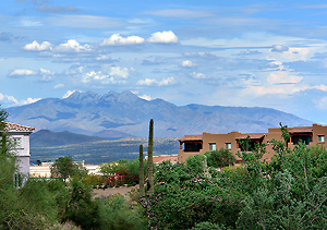 View of Four Peaks from Fountain Hills